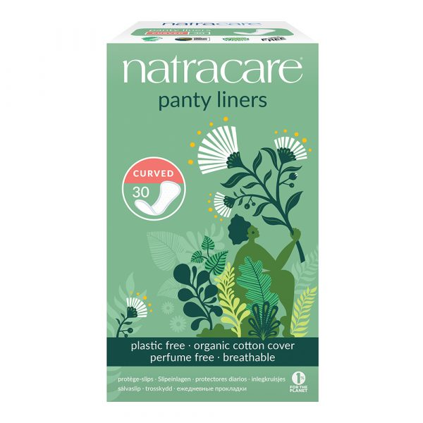 FEM2051CL Natracare Curved Panty Liners Organic Cotton Plastic Free