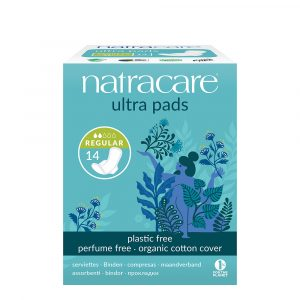 FEM2054WR Natracare Ultra Pad Regular Organic Cotton Plastic Free