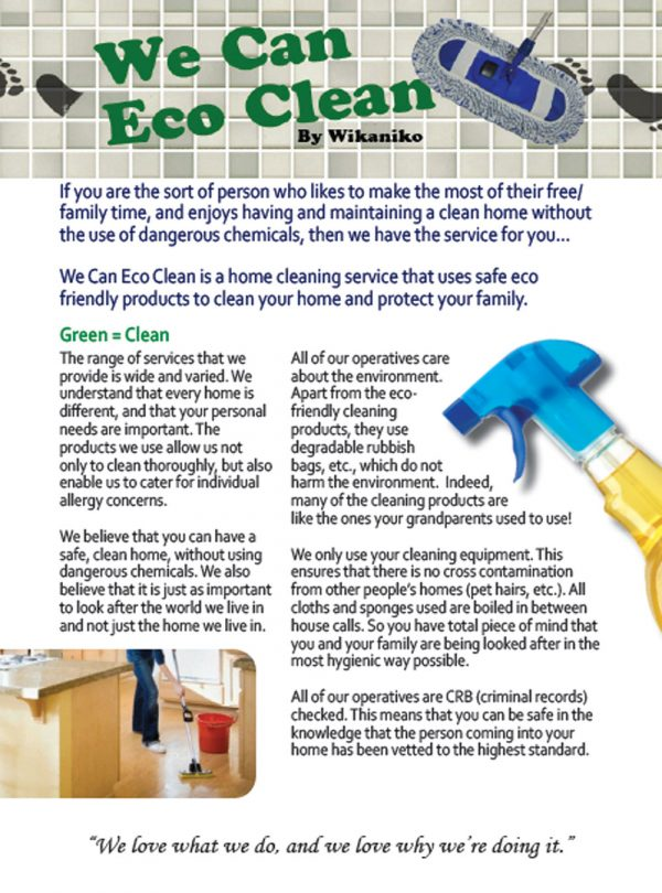 Cleaning Leaflets