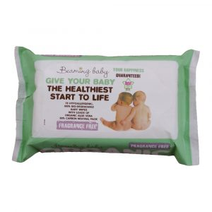 BeamingFragrance Free Baby Wipes organic vegan