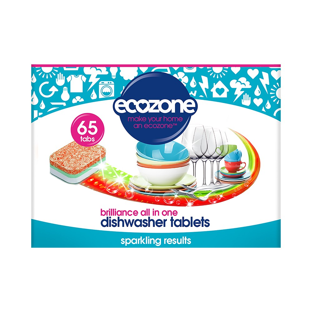 EcoZone Dishwasher Tablets Brilliance All in One (65 Tabs)