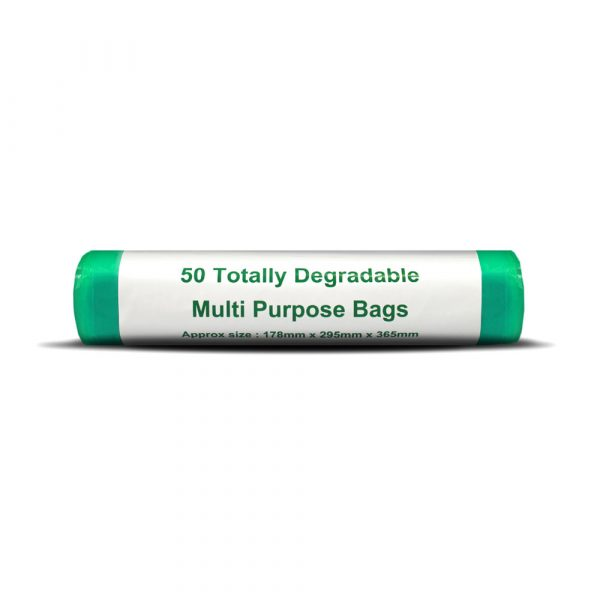 D2W Degradable Dog Waste / Nappy Bags Sacks (Roll of 50 Bags)