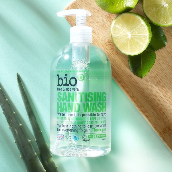 Bio-D Lime Aloe Vera Hand Wash Vegan Cruelty Free 500ml