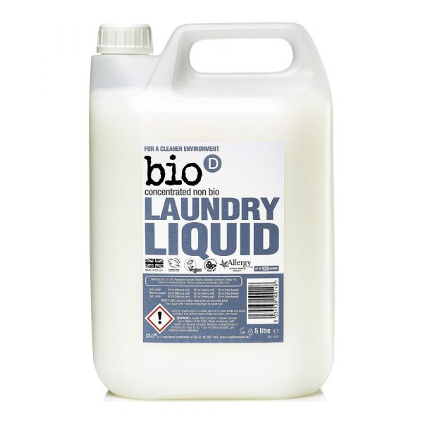 Bio-D Laundry Liquid (Fragrance Free) 5 Litre vegan