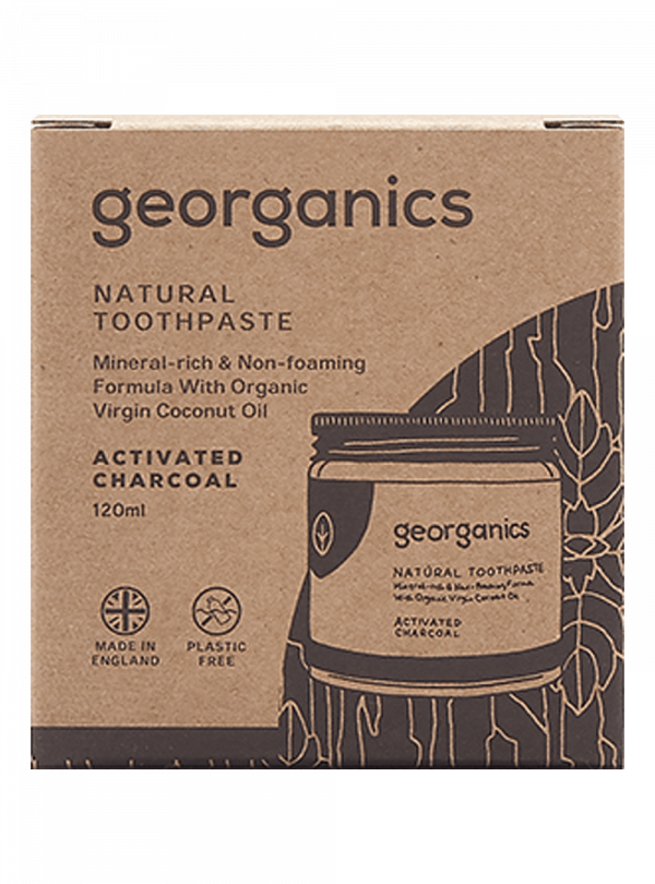 Georganics Natural Mineral-rich Toothpaste Activated Charcoal 120ml