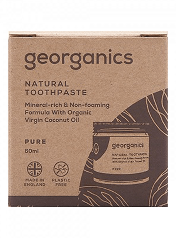 Georganics Natural Mineral-rich Toothpaste Activated Charcoal 60ml-4907