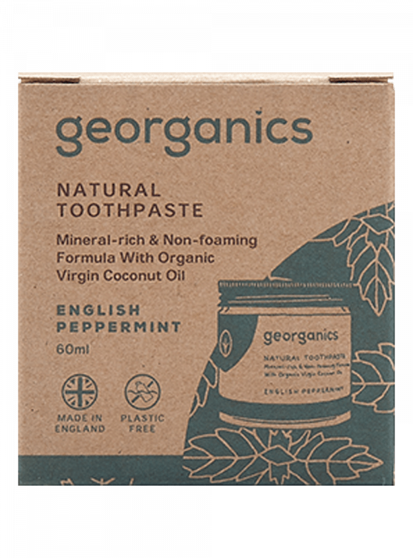 Georganics Natural Mineral-rich Toothpaste English Peppermint 60ml-4914