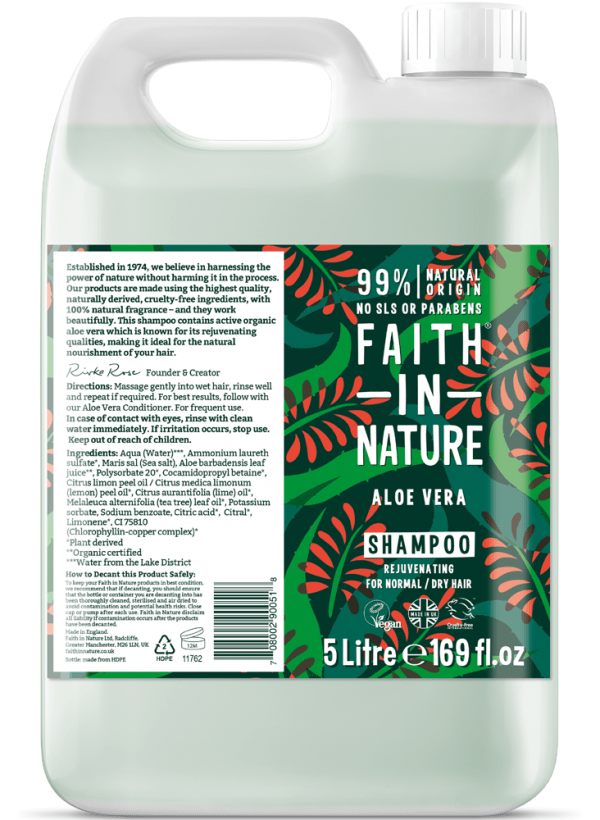Faith in Nature Aloe Vera Shampoo 5 Litre
