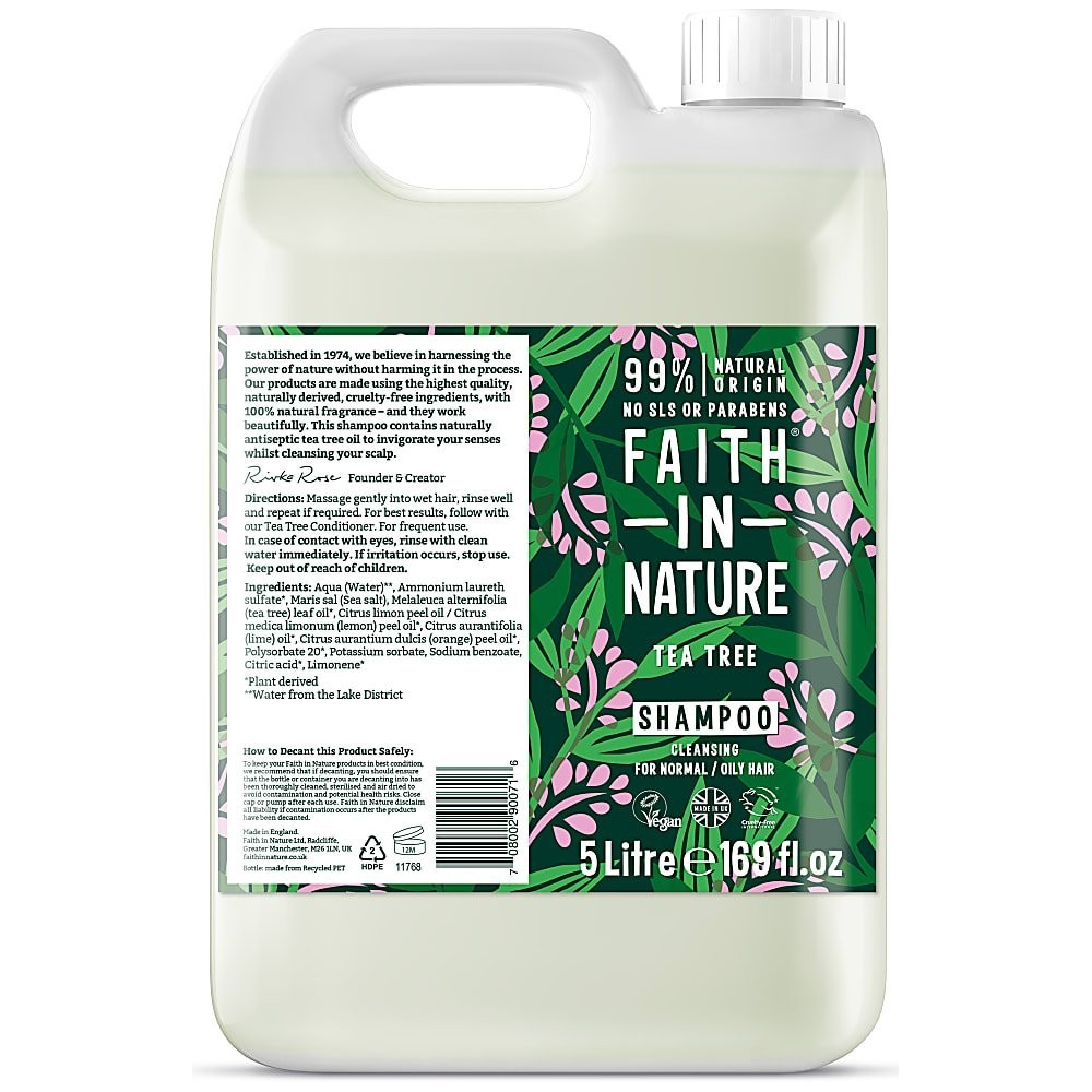 Faith in Nature Tea Tree Shampoo 5 Litre
