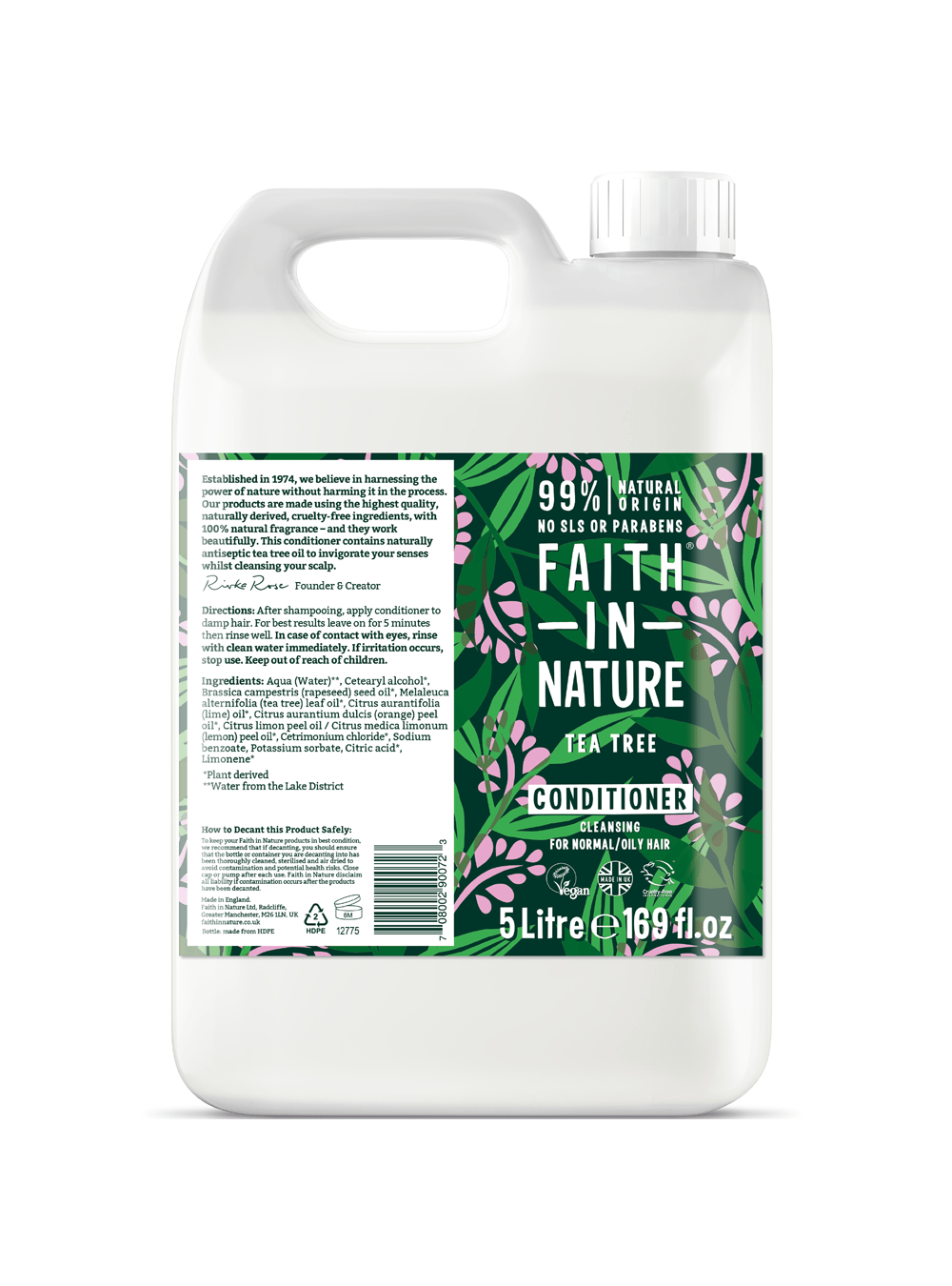 Faith in Nature Tea Tree Conditioner 5 Litre