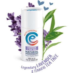 Earth Conscious Natural Lavender & Tea Tree Deodorant Stick 60g