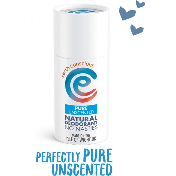 Earth Conscious Natural Pure Unscented Deodorant Stick 60g