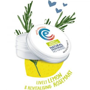 Earth Conscious Natural Lemon & Rosemary Deodorant Tin 60g
