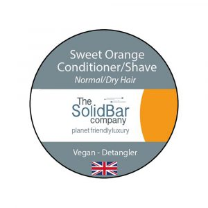 WIK2053OC The Solid Bar Company Sweet Orange Vegan Conditioner Shave
