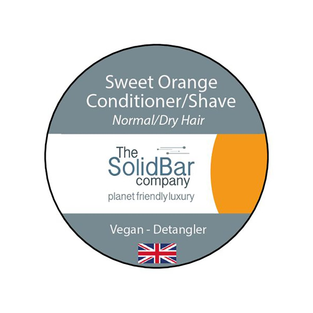 The Solid Bar Company Sweet Orange Vegan Conditioner / Shave