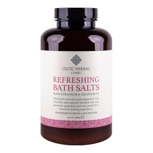 Refreshing Bath Salts with Rose Geranium & Grapefruit