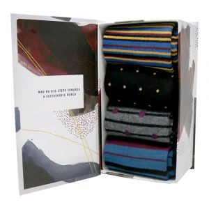 XMA0225MB Bamboo Socks Mens Gift Box Alexandar (7-11)