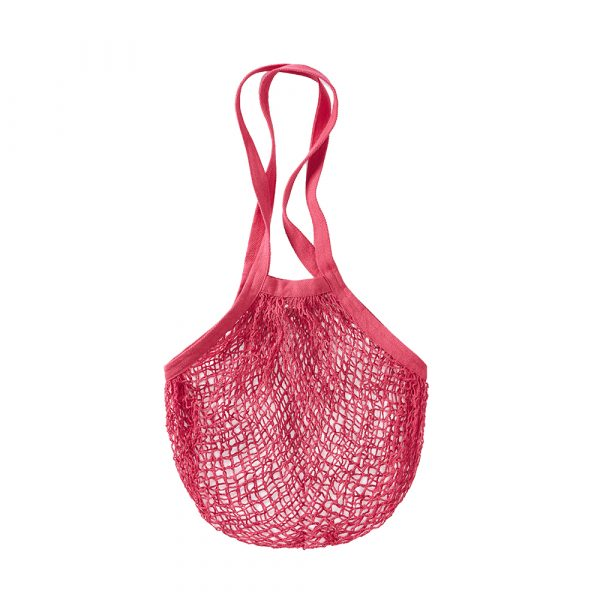 Recycled Cotton String Bag - Raspberry