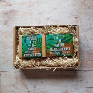 Faith in Nature Coconut & Shea Butter Shampoo & Conditioner Bar Gift Set