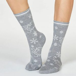 Bamboo Socks - Let it Snow (Size 4-7) Christmas 2021