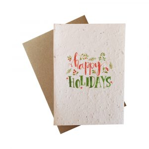 Seed Paper Christmas Greetings Card - Happy Holidays