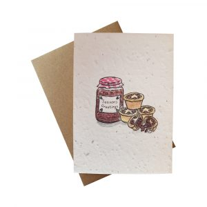 Seed Paper Christmas Greetings Card - Mince Pies