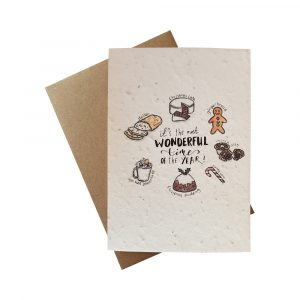 Seed Paper Christmas Greetings Card - The Most Wonderful Time